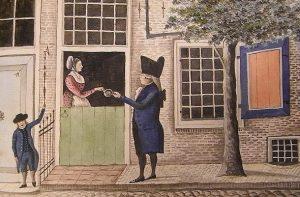 Collecteren voor de armen en behoeftigen in de achttiende eeuw.